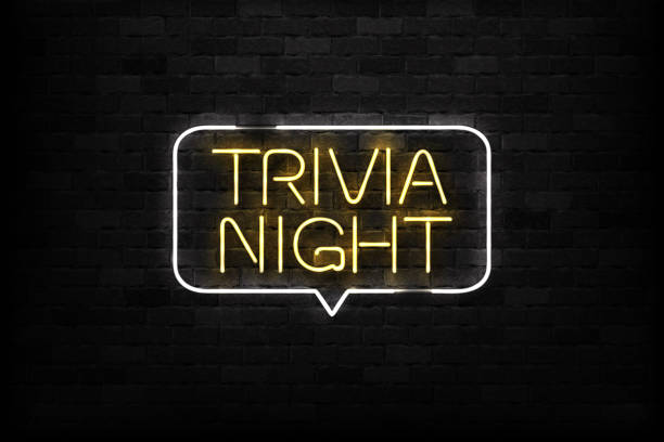 Vector realistic isolated neon sign of Trivia Night logo for decoration and covering on the wall background.